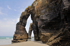 La spiaggia delle cattedrali (Spagna) fotografia stock