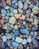 La spiaggia delle pietre dei ciottoli colora le pietre Immagine Stock Libera da Diritti