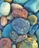 La spiaggia delle pietre dei ciottoli colora le pietre Immagini Stock Libere da Diritti