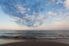 La spiaggia di Alassio, Italia Immagine Stock Libera da Diritti
