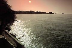 La spiaggia di Almuñecar un giorno soleggiato 2 Fotografia Stock Libera da Diritti