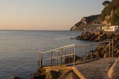 La spiaggia di Ancona Immagini Stock Libere da Diritti