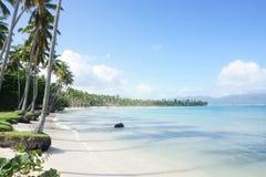 La spiaggia di Aserradero, Repubblica dominicana Immagini Stock