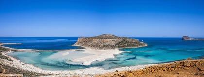 La spiaggia di Balos, Granvoussa, Creta Fotografia Stock