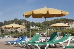 La spiaggia di Calella Immagine Stock Libera da Diritti