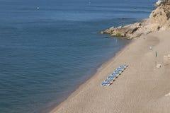 La spiaggia di Calella Immagini Stock Libere da Diritti