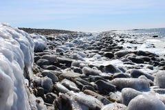 La spiaggia di Conrad - Nova Scotia Immagini Stock