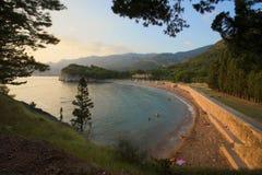 La spiaggia di Milocer immagine stock libera da diritti