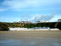 La spiaggia di Newquay Fotografie Stock Libere da Diritti