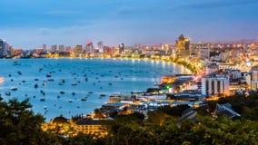 La spiaggia di Pattaya di punto di vista più bella nella città Chonburi, Tailandia di Pattaya fotografie stock