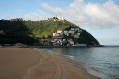 La spiaggia di San Sebastian in Spagna Fotografie Stock Libere da Diritti