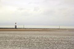 La spiaggia di Trouville (Normandia Francia) Immagini Stock Libere da Diritti