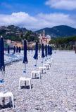La spiaggia di Ventimilgia Italia immagine stock libera da diritti