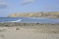 La spiaggia e l'oceano Fotografia Stock Libera da Diritti