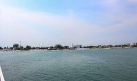 La spiaggia, il Mamaia & il x28; Constanta& x29; Immagini Stock Libere da Diritti