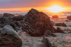 La spiaggia meravigliosa e peculiare di Barrika Immagine Stock Libera da Diritti