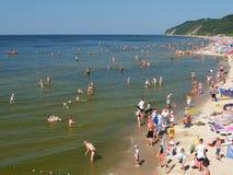 La spiaggia in Miedzyzdroje Fotografia Stock Libera da Diritti