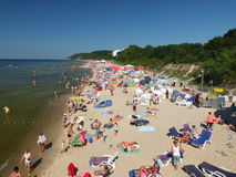 La spiaggia in Miedzyzdroje Immagini Stock Libere da Diritti