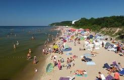 La spiaggia in Miedzyzdroje Immagini Stock