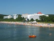 La spiaggia in Miedzyzdroje Fotografie Stock