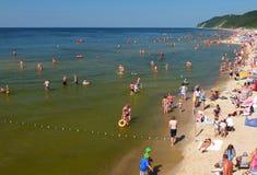 La spiaggia in Miedzyzdroje Fotografie Stock Libere da Diritti