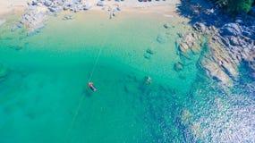 La spiaggia nascosta di paradiso a Phuket Fotografia Stock