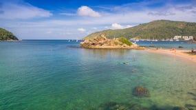 La spiaggia nascosta di paradiso a Phuket Fotografie Stock