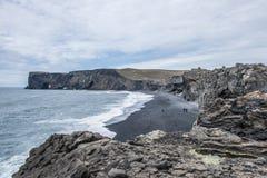 La spiaggia nera Immagini Stock