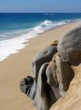 La spiaggia per gli amanti fotografie stock libere da diritti