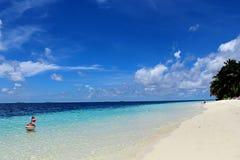 La spiaggia perfetta Maldive Fotografie Stock Libere da Diritti