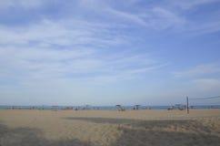 La spiaggia sabbiosa del Mar Nero Fotografia Stock