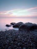 La spiaggia in sera Fotografia Stock