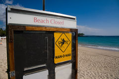 la spiaggia si è chiusa Fotografie Stock Libere da Diritti