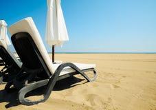 La spiaggia si distende Fotografia Stock Libera da Diritti