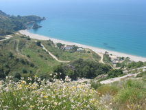La spiaggia, Spagna Immagini Stock Libere da Diritti