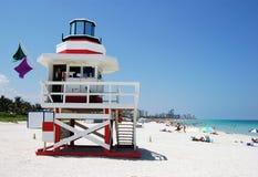 La spiaggia su Miami Beach Fotografia Stock Libera da Diritti