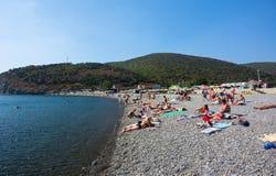 La spiaggia sul Mar Nero Immagine Stock
