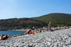 La spiaggia sul Mar Nero Fotografia Stock