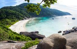 La spiaggia sull'ottava delle isole di Similan in Tailandia Fotografie Stock Libere da Diritti
