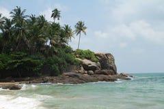 La spiaggia tropicale fotografia stock libera da diritti