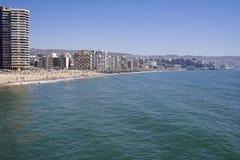 La spiaggia, Vina del Mar Immagini Stock Libere da Diritti