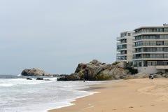 La spiaggia a Vina del Mar Fotografia Stock Libera da Diritti