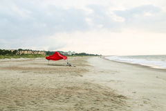 La spiaggia vuota Fotografie Stock