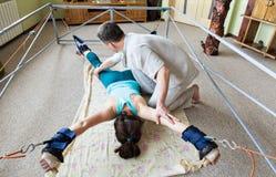 La spina dorsale per correggere attrezzatura per allungare Fotografie Stock Libere da Diritti