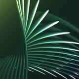 La spirale électrique de belle énergie magique abstraite verte a tordu les trellis cosmiques du feu des lignes, bandes, bâtons, b illustration de vecteur
