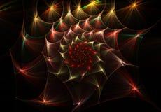 La spirale abstraite colorée tournent la fractale illustration stock