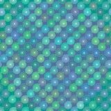 La spirale courbe le modèle coloré par bleu endless Photographie stock libre de droits