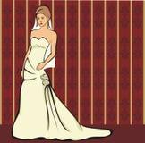 La sposa - abito di cerimonia nuziale Immagini Stock Libere da Diritti