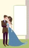 La sposa e la condizione ed abbracciare dello sposo Fotografie Stock
