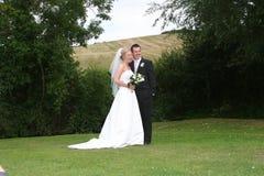 La sposa e lo sposo Fotografia Stock